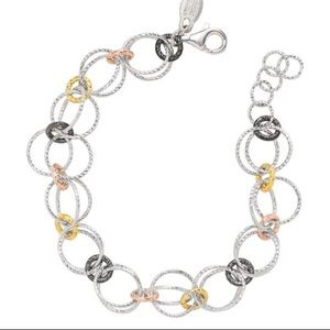 Frederic Duclos Silver and Gold Bracelet